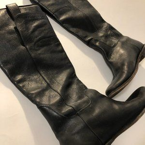 Frye Black Leather Riding Boots